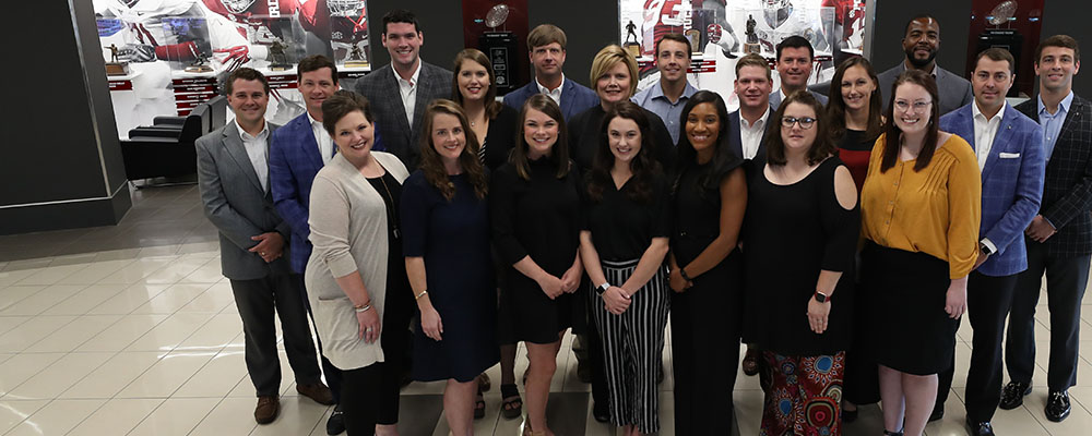 Group shot of Crimson Tide Foundation staff