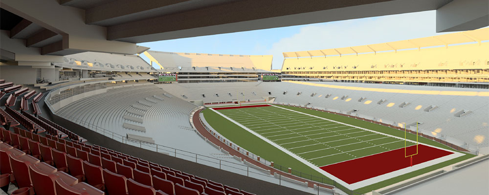 Rendering of the view of the field from the Champions Club