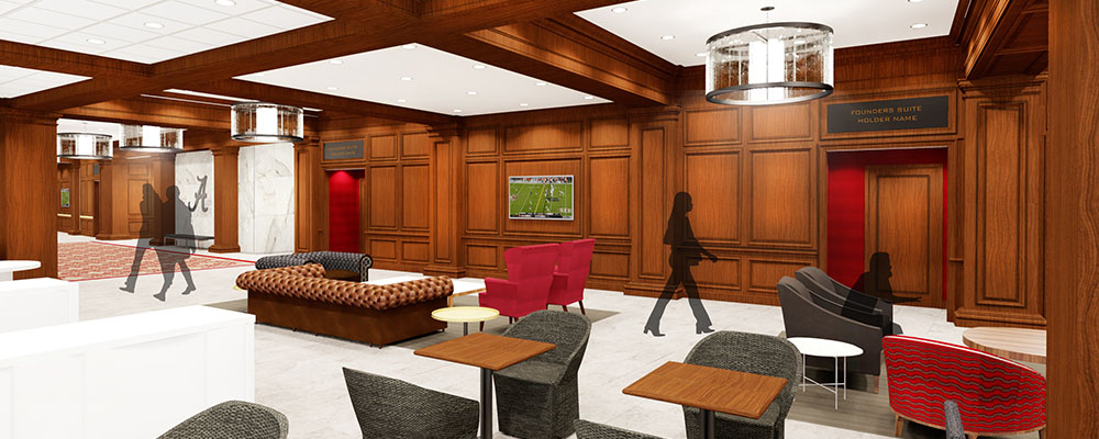 Rendering of the Founders Suites