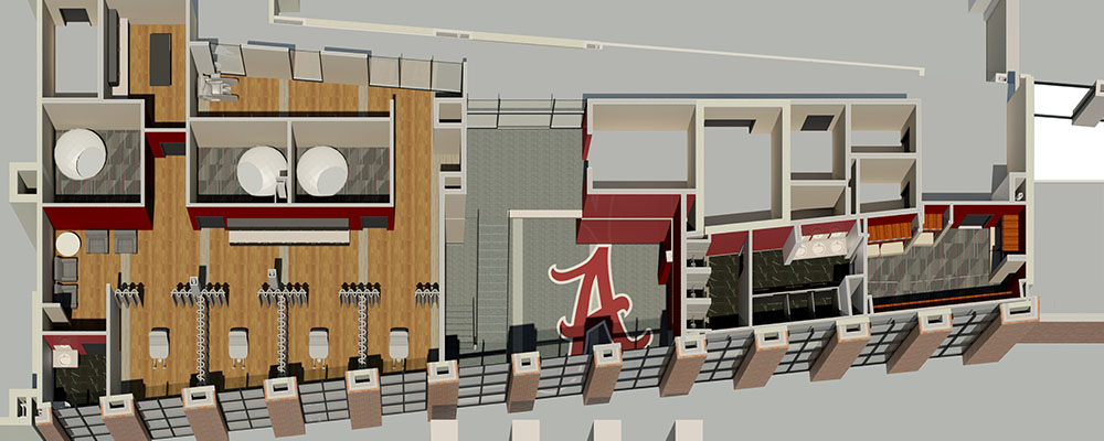 Rendering of Level 2 of the Sports Science Center
