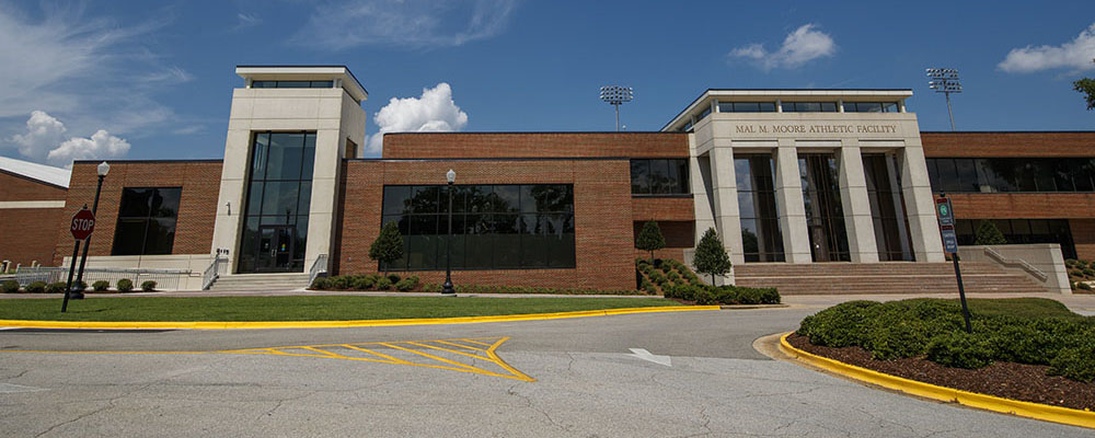 Exterior of Mal M. Moore Athletic Facility